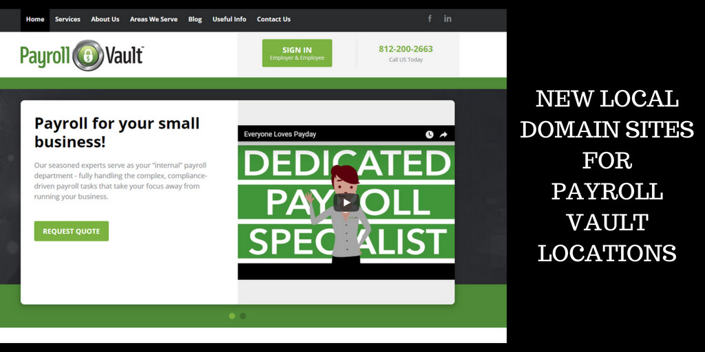 new local domain sites for payroll vault locations
