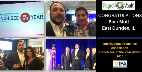 Congratulations Blair Motl, IFA's Franchisee of the Year Award 2018